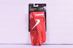 Nike Force Edge Leather Baseball Gloves, Red, Large