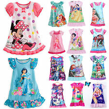 Kids Girls Toddler Princess Casual Dress Cartoon Pajamas Sleepwear Nightdress