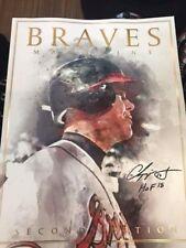 Chipper Jones 2018 Souvenir Program Magazine Atl Braves Hall of Fame