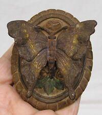 Vintage Figural Butterfly Cast Iron Door Knocker Pat. Applied