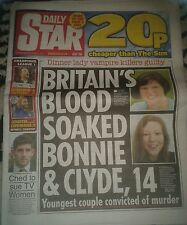 Star Newspaper-Oct 19 2016-Britains Blood Soaked Bonnie & Clyde Age 14-Convicted