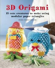 3D Origami: 15 cute creatures to make using modular paper triangles by Maria Ang
