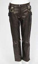 NWOT Dolce & Gabbana Leather D-Ring Buckled Bondage Pants Sz 40 US 4 Extras