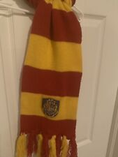 Hogwarts Scarf Harry Potter Yellow And Red Striped With Tassels Child Size OSFM