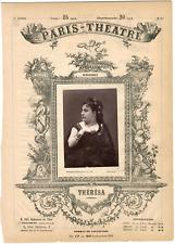 Lemercier, Paris-Théâtre, Emma Valladon dite Thérésa (1837-1913), chanteuse Vint