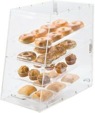 4 Tray Bakery Display Case Front Rear Door Donuts Pastry Hotel Store Coffee Shop