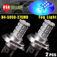 2x Ultra Blue H4 HB2 9003 LED 5050 Tri-cell 27 SMD Fog Driving Lights DRL