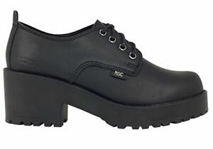 ROC Chickadee Senior Older Girls/Ladies School Shoes With Heels - Leather