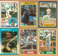Reggie Jackson, Angels, A's, HOF, 12 card LOT, 32+yrs old, Near Mint or better