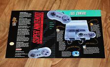 1991 SNES Nintendo Ad Flyer Werbung PilotWings Sim City Super Mario World F-Zero