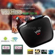 V99 Hero Smart Octa-core Android 5.1 TV BOX 2.4G/5.0G WiFi 4K 3D BT4.0 4GB+32GB