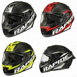 MT Fast Pro Carbon Fibre Full Face Motorcycle Crash Helmet