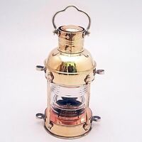 Nautical Antique Brass Vintage Ship Boat Hanging Oil Lamp Beautiful Home Decor.