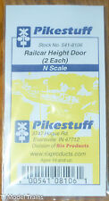 Pikestuff #541-8106 (N Scale) Railcar Height Doors (Plastic Parts)