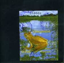 FROGS OF COLOMBIA, ''HYLA CREPITANS'' ,stamp of s/s.  #  used  2002
