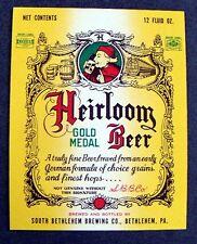 Supreme Beer Label Heirloom Gold Medal South Bethlehem Pennsylvania