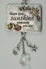G Share your sunshine wherever you are Inspirations Car mirror charm ornament