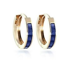 1.3 Ct Solid Diamond Natural Blue Sapphire Gemstone Earring 14K Yellow Gold Stud