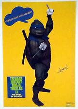 Teenage Mutant Ninja Turtles II Poster-Leonardo-TNMT