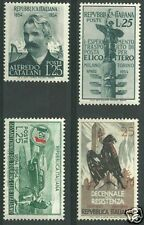 1954 ITALIA BLOCCO DI 4 BOLLI NUOVI SS 738/739/740/743