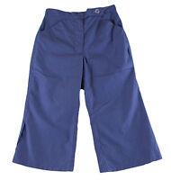 JACADI Girl's Chevron Blue Shore Leg Opening Slit Pants Sz 10 Years NEW $54
