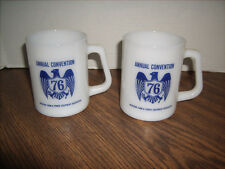 2 Vintage Federal Glass Co  Mugs Michigan Farm & Power Equipment Assoc.