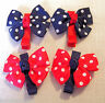 LOT de 2 BARRETTES PINCE à CHEVEUX CROCODILE NOEUD POIS - FILLE ENFANT - CH21