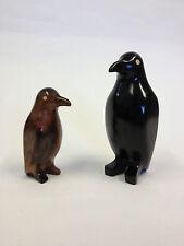 Kamagong Wood Hand Carvings Of Penguins Standing (443)