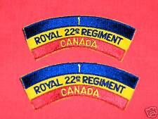 1 ROYAL 22ND REGIMENT - CANADA Cloth Shoulder Flashes