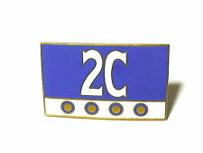 Fregio stemma LANCIA 2C 60x35mm storico badge emblem logo escudo smaltato pern