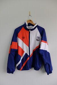 Vintage 90s Aberdeen FC Umbro Jacket zip up jacket M Blue Red White Football