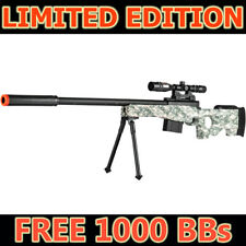 Airsoft Sniper Rifle with Scope Bipod Camo AWP Spring Bolt Gun Free BB EXCLUSIVE