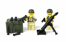 US Army WW2 Marine Mortar Team Soldier made with real LEGO®