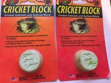 ZOO MED CRICKET BLOCK FOOD GUT LOAD CALCIUM GROUND. 2 PACK