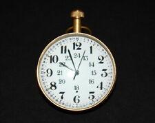 Vintage table top brass clock desk top globe antique collectible decorative item