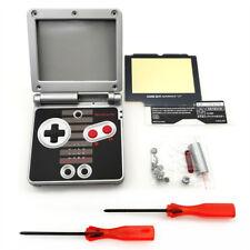 Neu NES Ersatz Gehäuse Hülle Shell Case für Gameboy Advance GBA SP - Grau