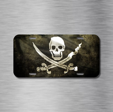 Pirate Flag Vehicle Front License Plate Auto Car Captain Skull and Crossbones