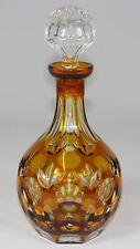 NACHTMANN - Glaskaraffe KARAFFE Likörflasche Glas - GELB Diamantschliff - 29cm