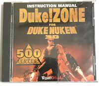 Duke Zone For Duke Nukem 3D 500 Levels Instruction Manual Wizard Works Game
