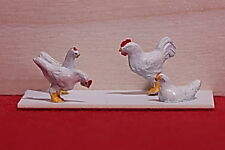 Berkshire Valley Models O/On3/On30, 1/48 Chickens, 12 per package - #675