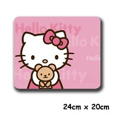 "9"" Anime HelloKitty Pink Kitty Cat & Bear Gaming Mouse Pad Mouse Mat"