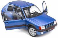 SOLIDO 1801708 PEUGEOT 205 GTi 1.9L  Mk.1 diecast model car Blue Miami 1988 1:18