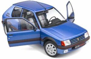 PEUGEOT 205 GTi 1.9L Mk.1 model road car Blue Miami 1988 1:18th SOLIDO 1801708