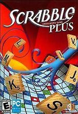 SCRABBLE PLUS Crossword Board Game for Windows XP/Vista PC CD-ROM Computer VG