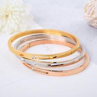 Women's Fashion Stainless Steel Bracelet Roman Numerals Hollow Titanium Bangle
