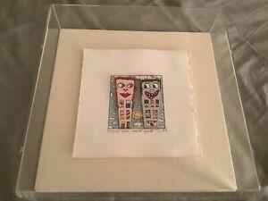 James Rizzi 3-D Serigraph 'Girl Next Door' 124/150