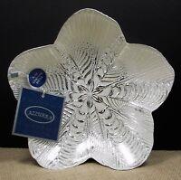 Azzurra Handmade Turkish Art Glass Bowl White With Genuine Silver Decoration