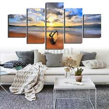 Sea Beach Unframed Canvas Modern Painting Print Home Room Art Wall Decoration