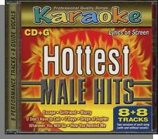 Karaoke CD+G - Hottest Male Hits - New 8 Song CD! Escape, Girlfriend, 7 Days