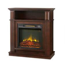 31 In. Freestanding Compact Infrared Electric Fireplace w/ Remote Control Cherry